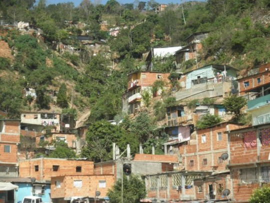 Low density barrios on the outskirts of Caracas