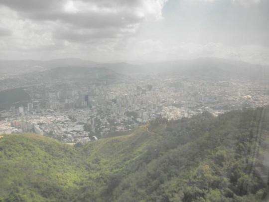 Caracas from teleferico ascending Pico El Avila (2105m)