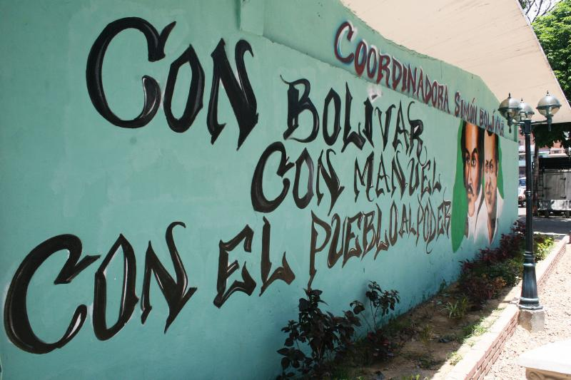 """Simon Bolivar Coordinator: With Bolivar, with Manuel, with the people to power"""