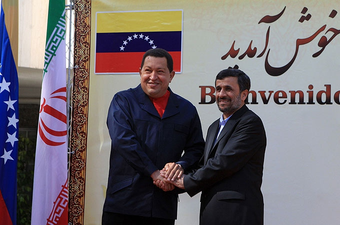 Venezuelan President Hugo Chavez (left) and Iranian President Mahmud Ahmadinejad (AFP)