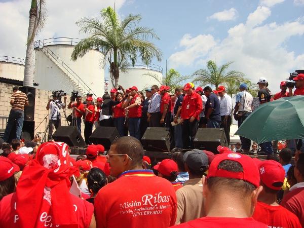 Venoco workers demonstrate in Carabobo state (Aporrea)