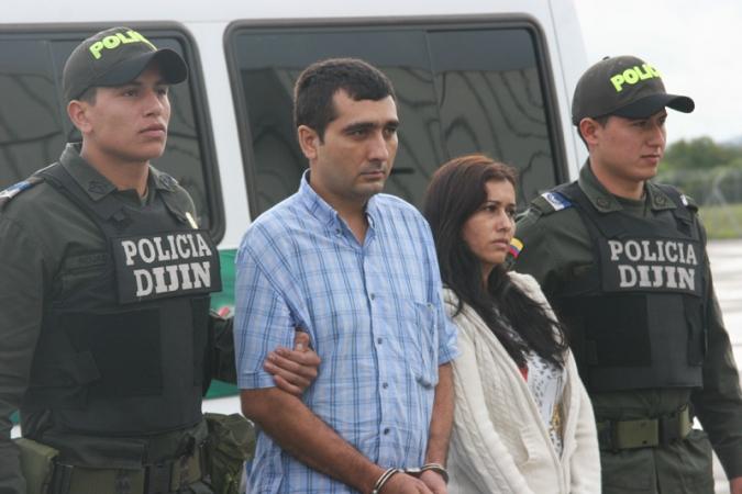 Nilson Navarro Mojica (Center-left) and Priscila Ayala Mateus (Center-right) (Agencies)