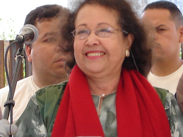 Newly elected MP of the PSUV in Aragua and ex-Minister for Women and Gender Equality, Maria León (VTV)