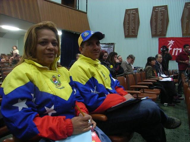 Yoly Fernandez (left) during her 2009 Australian tour, organised by the Australia-Venezuela Solidarity Network.