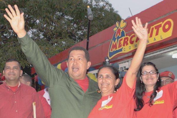 President Chavez  in Zulia