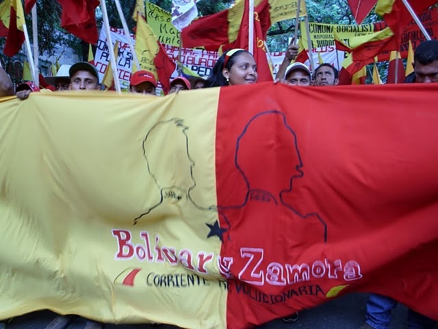 "The Bolivar and Zamora Revolutionary Current participated in a recent peasant march for ""democratic radicalization"" of the Bolivarian Revolution"