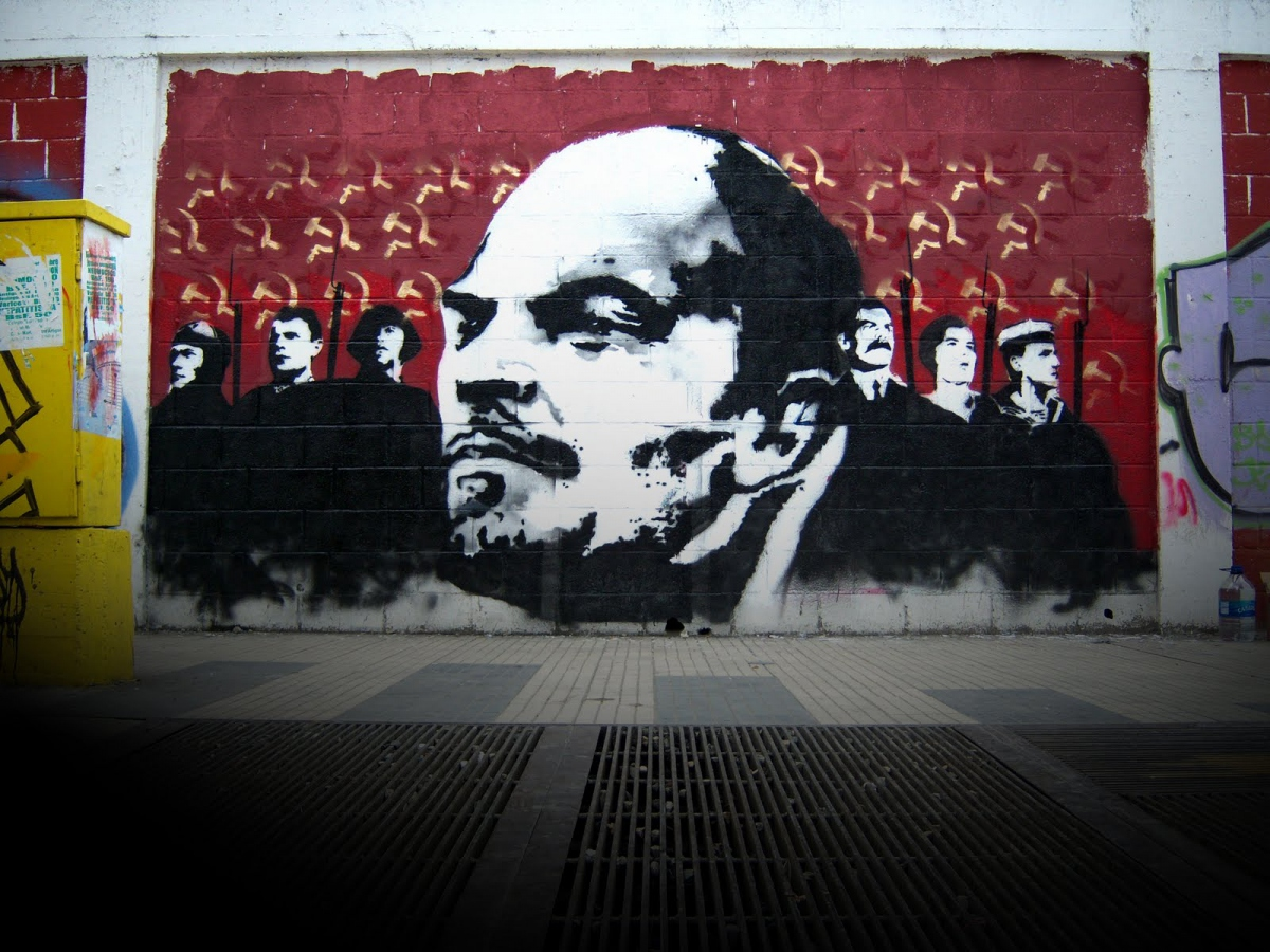 To commemorate the Russian Revolution of 1917 and its leader, VI Lenin, Venezuela's Communicational Guerrilla produced this striking image.