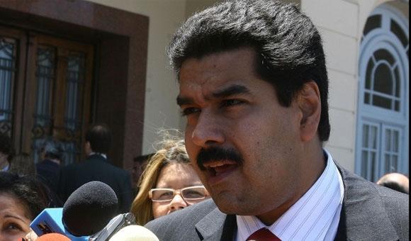 Venezuelan Minister of Foreign Affairs, Nicolas Maduro (Archive).