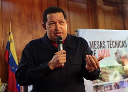 President Chavez on Wednesday (Prensa Presidencial)