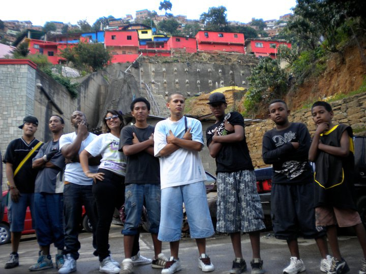 Venezuelan hip hop artists in Caracas's southern barrio known as La Vega (Archive).