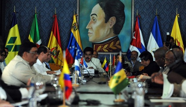ALBA's political council affirmed its support for Venezuelan President Hugo Chavez's proposed 'peace commission' to held mediate the conflict in Libya (archive).