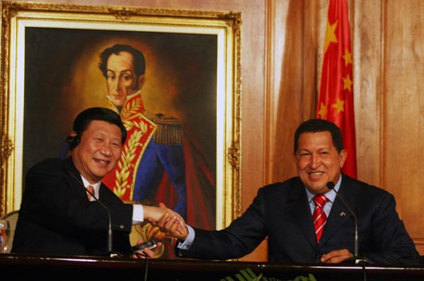 President Chavez with Chinese Vice-President Xi Jinping, in 2009 (MPPRE)