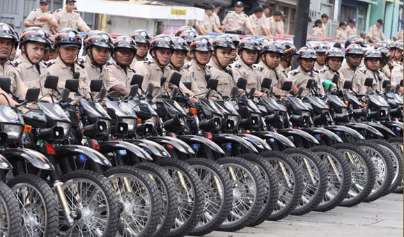 Members of Venezuela's newly founded National Bolivarian Police (Archive).
