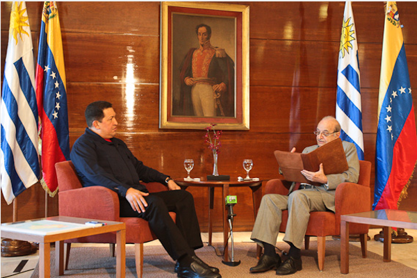 Chavez in the interview with Uruguayan journalist Federico Fasano (agencies)
