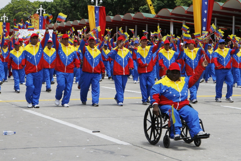 A section of the civic-military parade today in Caracas (Photo: AVN).