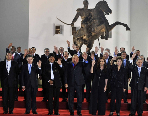 Heads of state from every country in the Western Hemisphere apart from the US and Canada were invited to attend the summit (Archive)
