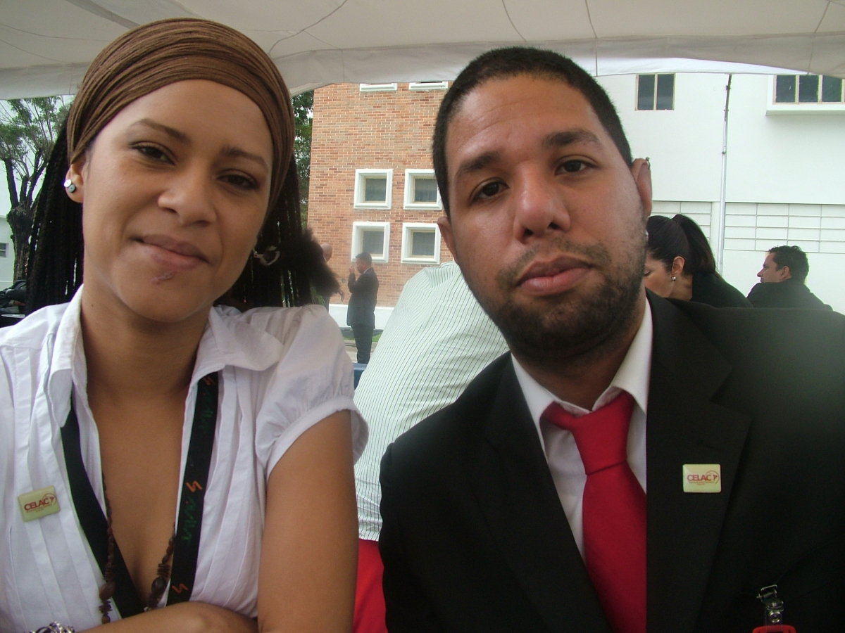 Llafrancis Colina (Left) and Augusto Melero of Avila TV  (Tamara Pearson / Venezuelanalysis.com)