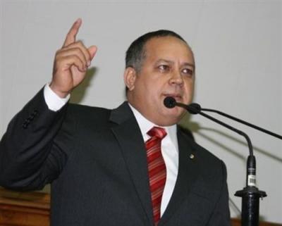 Diosdado Cabello, the new president of Venezuela's National Assembly (YVKE)