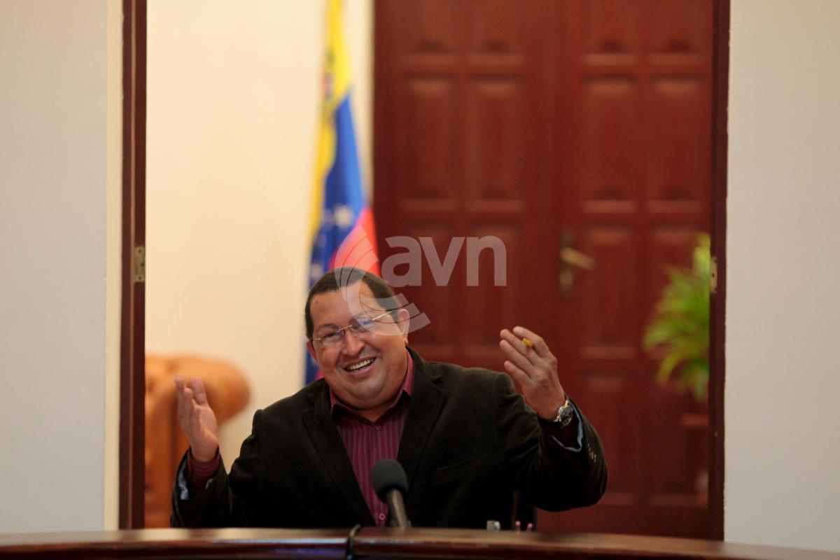 "Venezuelan President Chavez announced his ""quick recovery"" from his operation on Monday (AVN)"