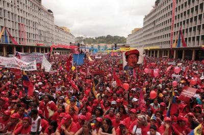 Venezuelans celebrating International Women's Day 2012 (archive).