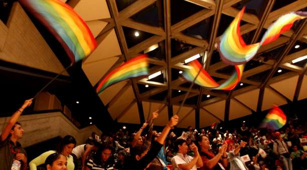 The sexual diversity assembly held yesterday in Caracas (agencies)