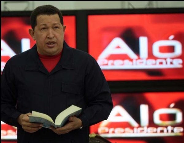 Venezuelan President Hugo Chavez's weekly talk show Alo Presidente reached its 13th anniversary this week (alopresidente.gob.ve).