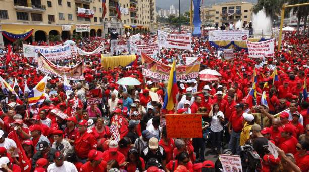 The May Day march in Caracas (AVN).