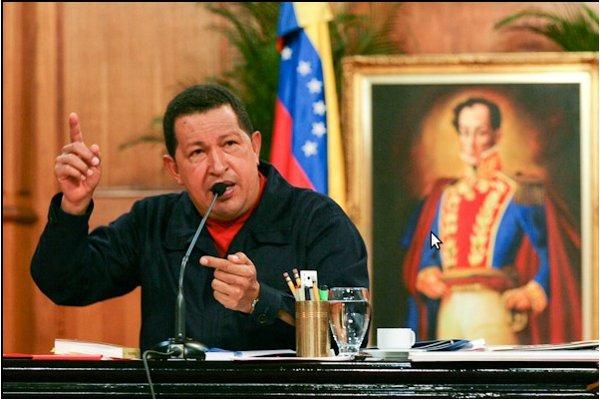 Venezuelan President Hugo Chavez spoke to the nation via state television channel VTV yesterday (RNV Archive).