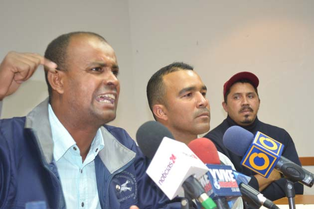 The trade union leaders of SINATRASOHE held a press conference in Caracas last Friday 25 May to present evidence suggesting that the Polar Group was behind the attack (Luissana Cárdenas / Noticias24).