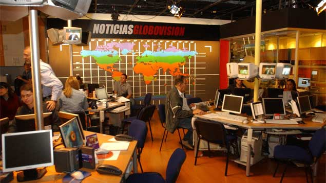 Globovision newsroom (Carlos Mesa/ UN).