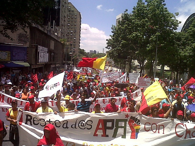 The Revolutionary Popular Alliance marched from Plaza Venezuela to the Miraflores Palace (GG/Aporrea)