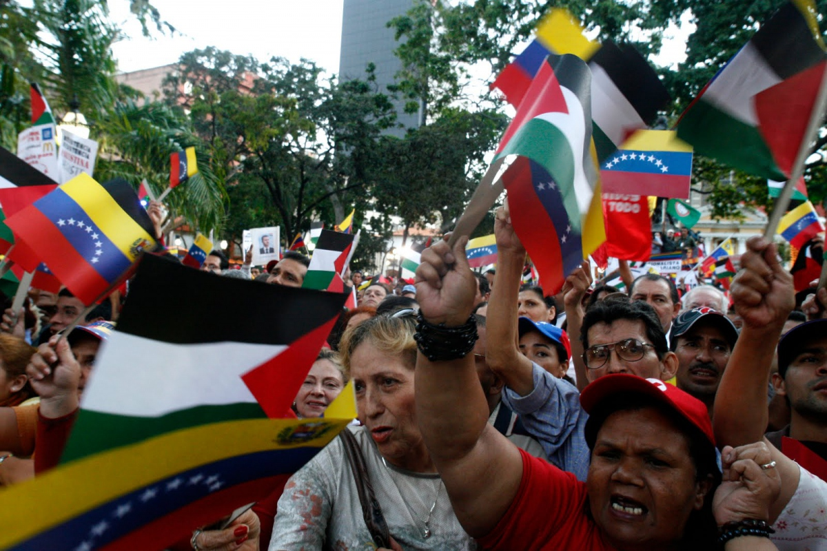 Venezuelan popular power and solidarity with Palestine (grassroots press).