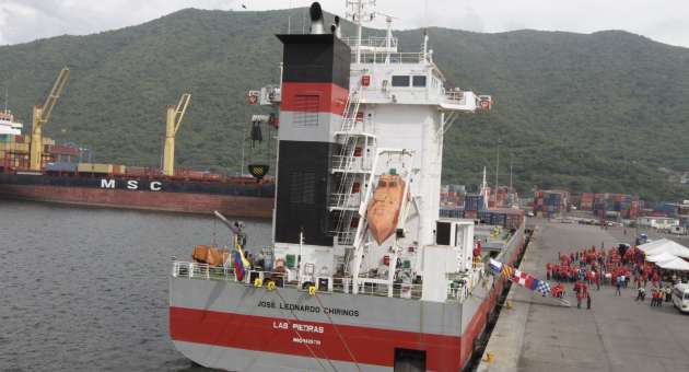 Venezuela's first export shipment as a full Mercosur member left port yesterday (AVN)
