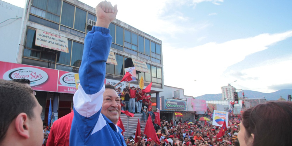 Venezuelan President Hugo Chavez at a campaign rally in San Cristobel in the western state of Tachira last weekend (chavez.org)