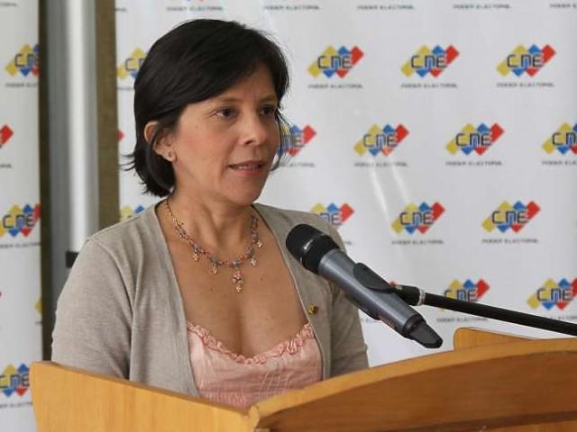 CNE Vice President Sandra Oblitas (archive)