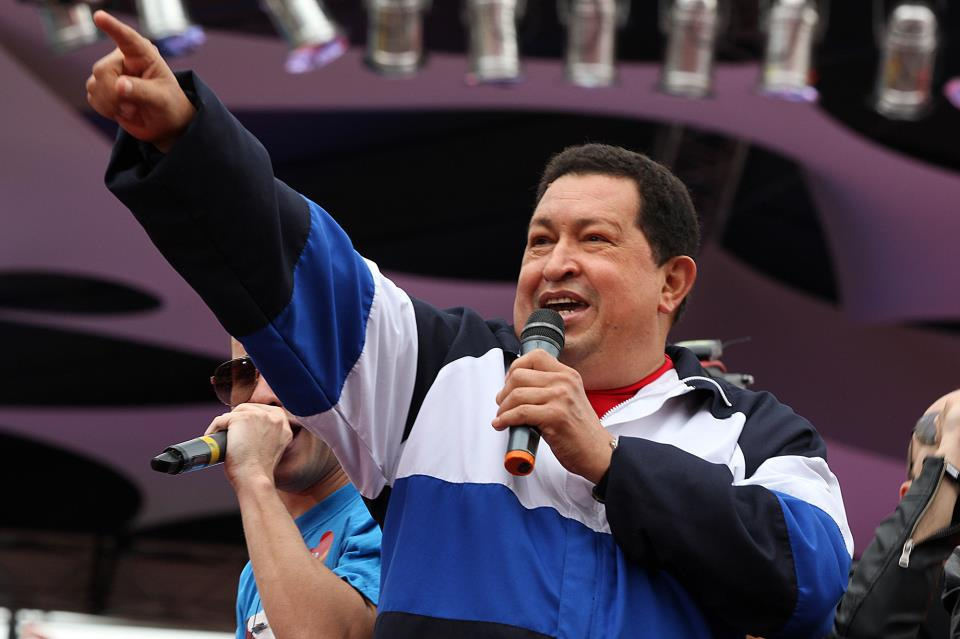 Venezuelan President Hugo Chavez at a massive rally in the Andean city of Merida last Friday (RNV)