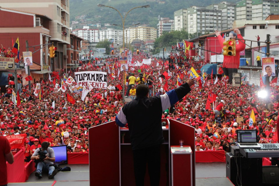 President Hugo Chavez speaking in Merida state on Friday (CdO)