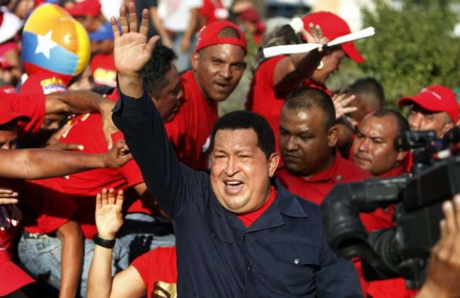 Chavez at a campaign rally in Charallave, Miranda state, Sunday 9 September (EFE)