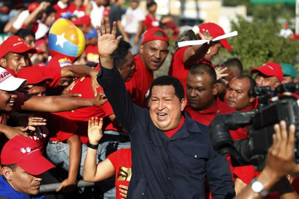 Chavez has been travelling Venezuela as part of his election campaign (noticierodigital)