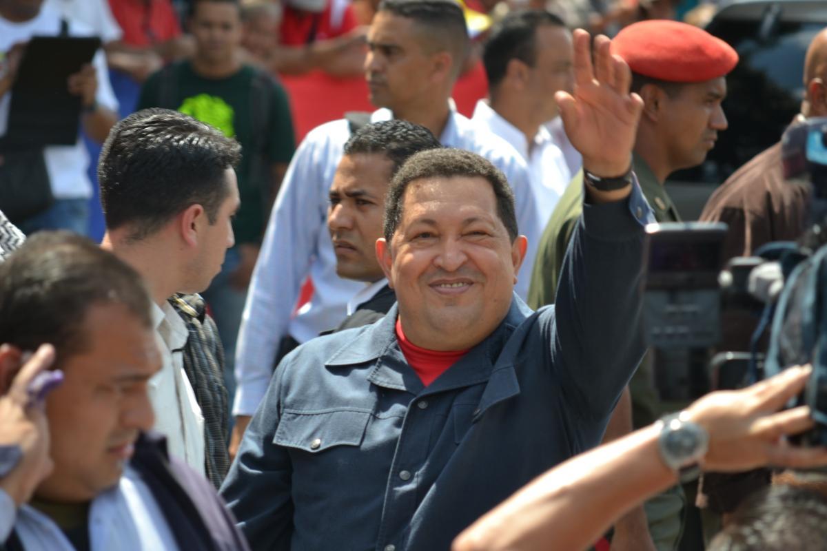 Chavez voting in  Manuel Palacios Fajardo High School, in 23 de Enero, Caracas (Ryan Mallet-Outtrim)