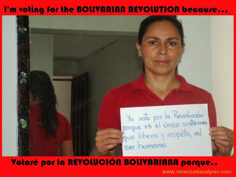 """I vote for the revolution because its the only system that frees and respects human beings"""