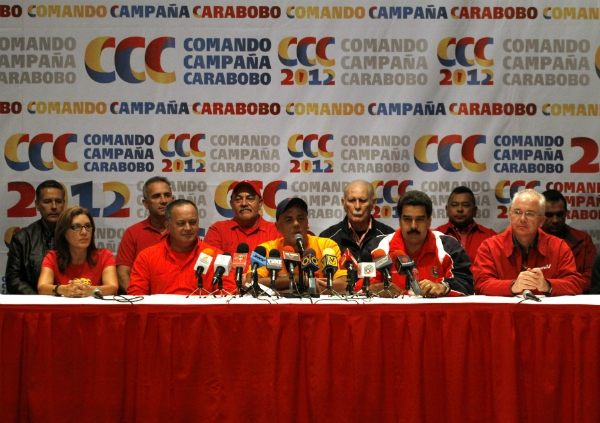 "Jorge Rodriguez, the PSUV's campaign manager, called the win ""an immense victory"" in a post-results press conference (Miguel Romero)"