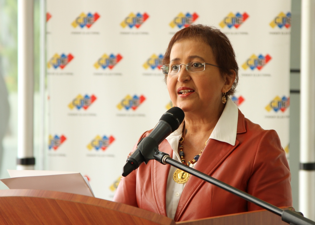 CNE president Tibisay Lucena announced mayoral elections for May next year (CNE).