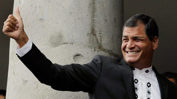 Rafael Correa won the presidential elections by 57% (AP)
