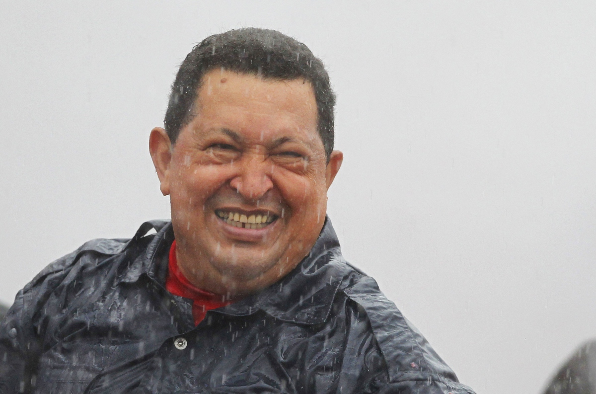 Chavez last October at the closing rally before the presidential elections (archive)