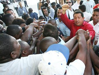 Hugo Chavez during a visit to Haiti in March 2007