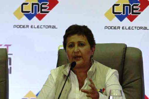 CNE president Tibisay Lucena, made the announcements this afternoon (AVN)