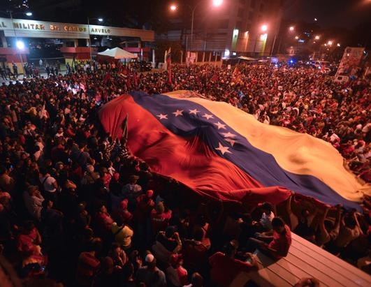 Thousands turned out in Caracas to remember Chavez.