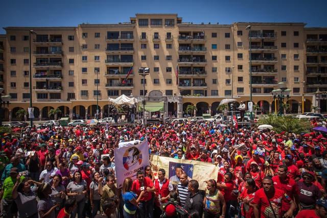 Chavez supporters on Sunday (Ivan Gonzalez)