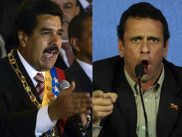 Nicolas Maduro and Henrique Capriles (AFP | Créditos: EFE/AFP)